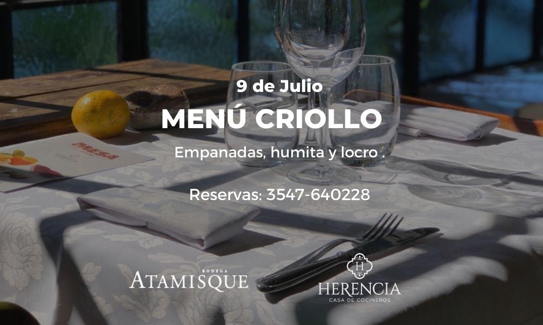 Menú Criollo