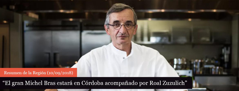 El gran Michel Bras estará en Córdoba