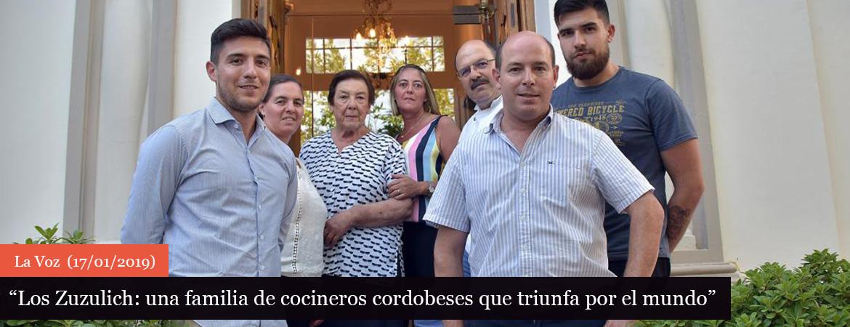 Los Zuzulich, una familia de cocineros cordobeses que triunfa
