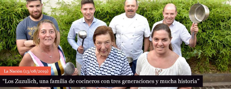Los Zuzulich, una familia de cocineros con tres generaciones